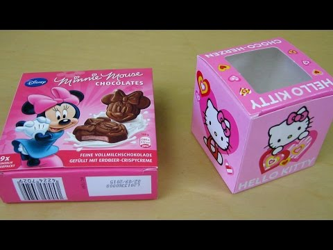 Hello Kitty Chocolate | Disney Minnie Mouse Chocolate