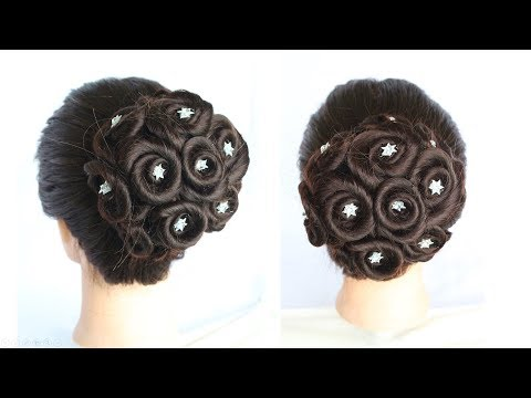 juda hairstyle for wedding || How to Do a Perfect Bridal Bun step by step || hairstyle for party