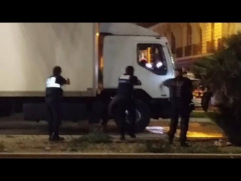 Amateur video shows police close in on Nice truck attack driver
