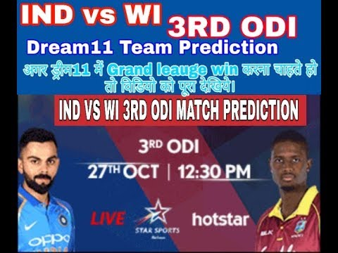 INDIA vs WEST-INDIES Dream11 Team 3rd ODI || IND vs WI 3RD ODI Match Dream11 Team Prediction