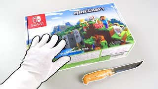 "Nintendo Switch ""MINECRAFT"" Console Unboxing! (Super Mario skins pack)"