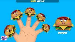 Burger Finger Family | Nursery Rhymes for Kids | The Finger Family Burger Family Songs