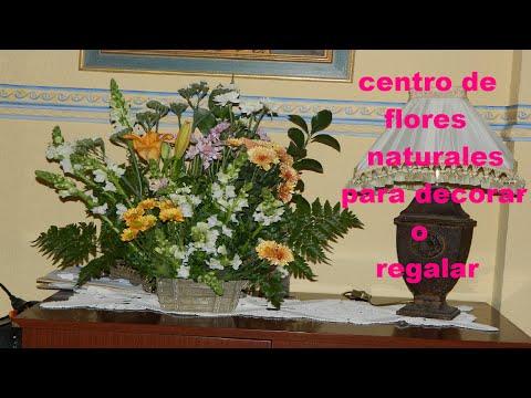 DIY para decorar: Centro de flores naturales para decorar o regalar.