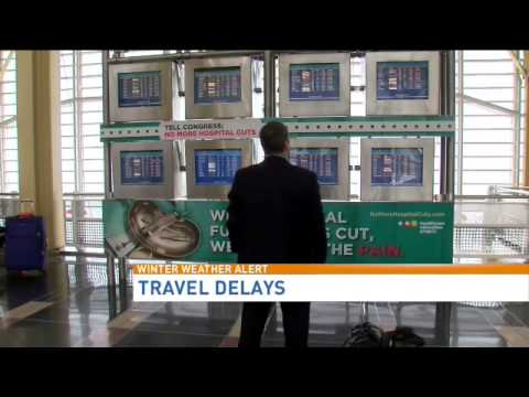 Airport delays slowly ending after winter storm
