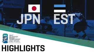 Japan - Estonia | Highlights | 2017 IIHF Ice Hockey World Championship Division I Group B
