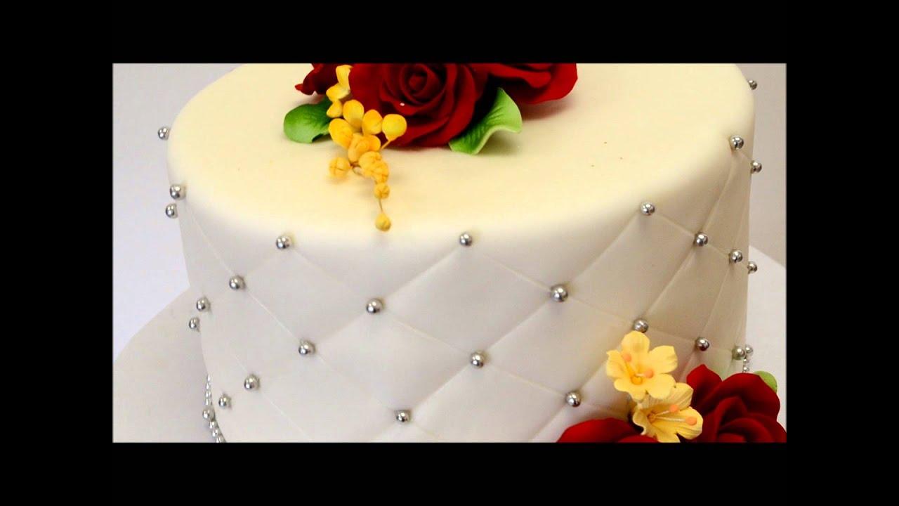 Single Tier Wedding Cake Small Wedding Cake Ideas Youtube