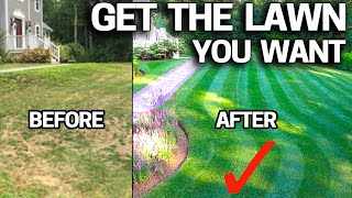 How to FIX an UGLY Lawn with RESULTS - Step by Step for Beginners