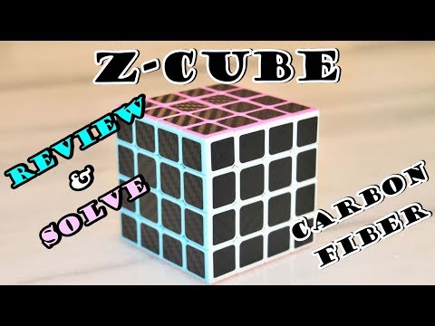 How to Solve 4x4 Rubik's Z- Cube Carbon Fiber Review and Solve
