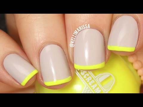 Easy DIY French Manicure Trick! Tutorial    KELLI MARISSA