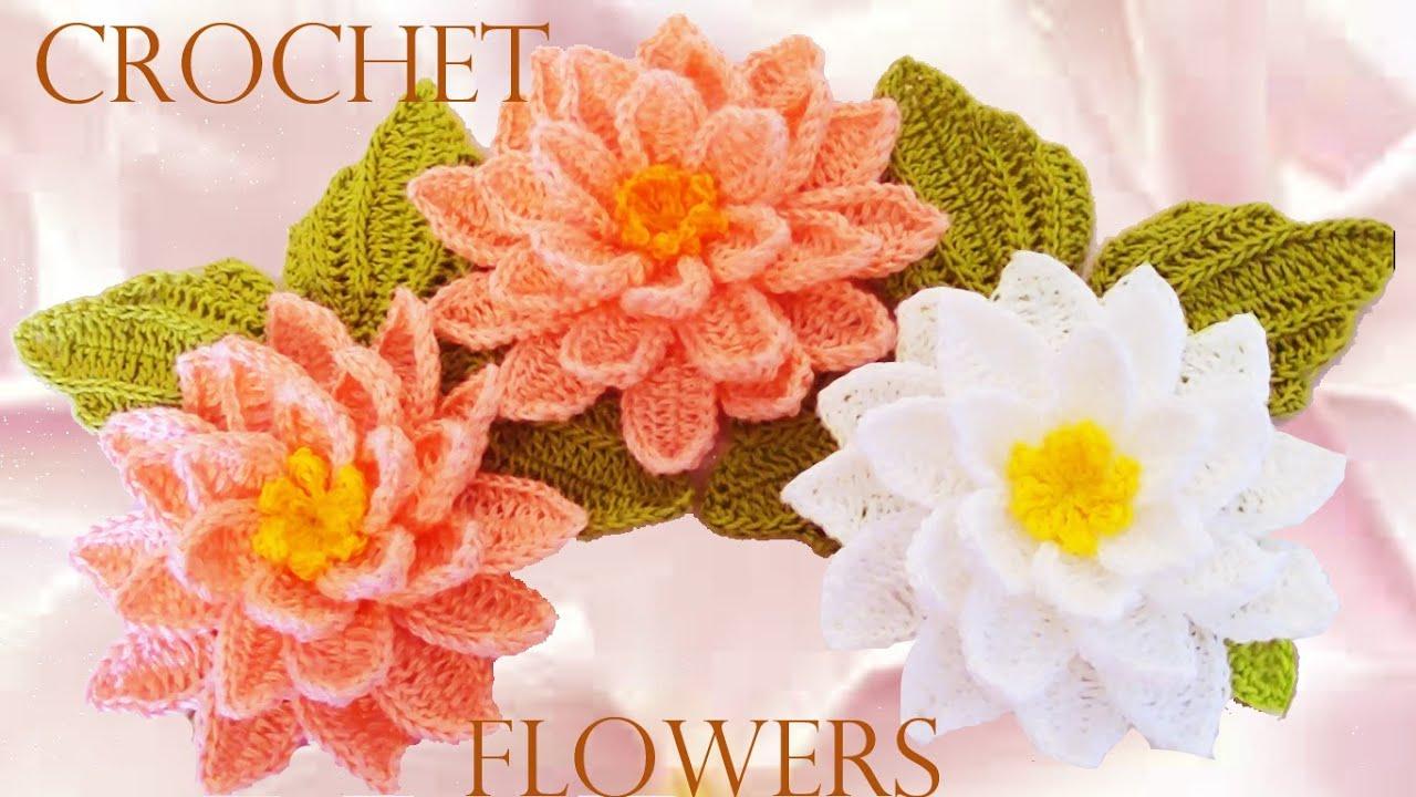 Вязание цветов крючком пошаговое