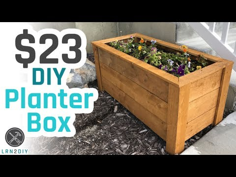 $23 DIY Planter Box