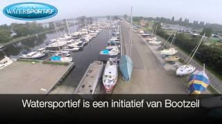 Watersportief Fly over Jachthaven Nijkerk de Zuidwal nieuw Hulckestein