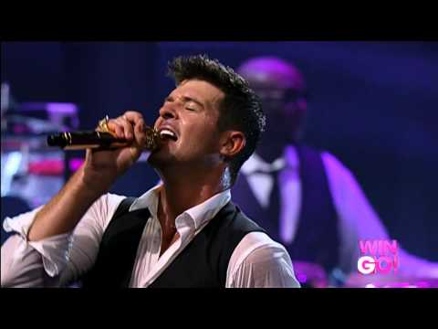 feel good Robin Thicke live 2013
