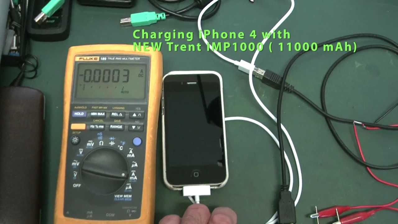 New Trent Imp1000 Iphone 4 Charger Vs Power Adapter Youtube