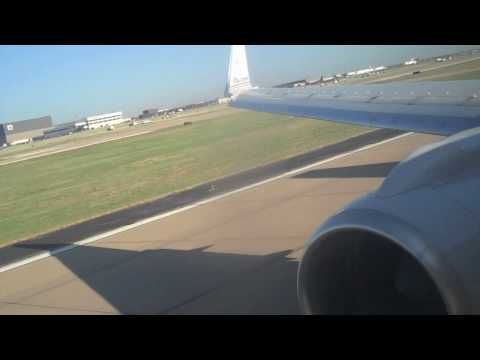 American airlines 757-200 takeoff from Dallas Fort Worth Airport (KDFW)
