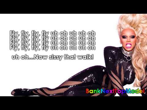 RuPaul Sissy That Walk Lyric Video