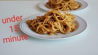 15 MINUTE Red Sauce Spaghetti