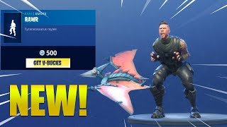 *NEW* RAWR EMOTE/DANCE & PTERODACTYL GLIDER! Fortnite Battle Royale
