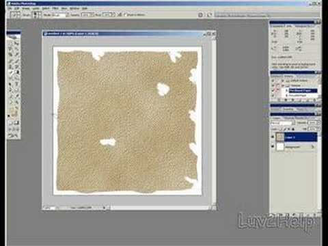 Old Burnt Treasure Map Effect Using Photoshop Video