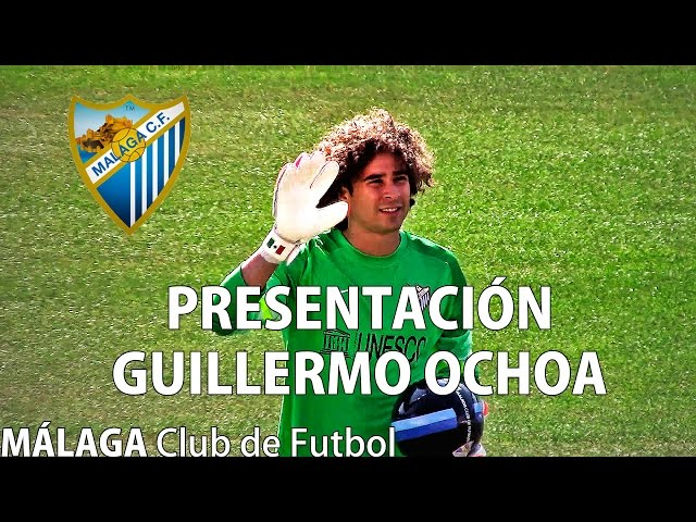 Presentación del portero Mexicano Francisco Guillermo Ochoa con el Málaga Club de Fútbol.