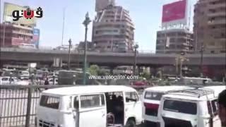 فيتو | الأمن يفض مسيرة أمام مسجد الاستقامة بقنابل الغاز
