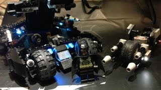 LEGO batmobile and batpod LED 改Lego BATMOBLE 蝙蝠車Led...バットマン LEGO バットポッド/batpod custom moc led