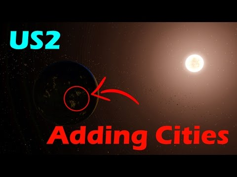 How to add CITIES to a planet! - Universe Sandbox 2