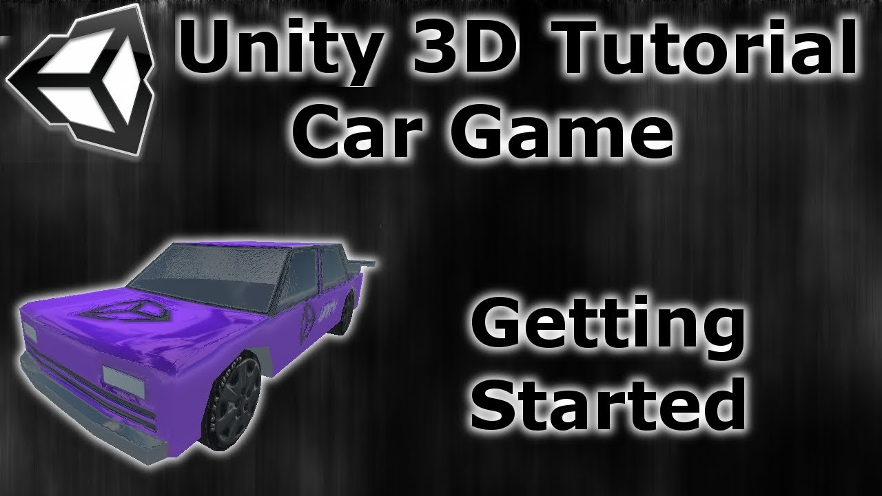 How to make a car game unity 3d tutorial setting up test scene