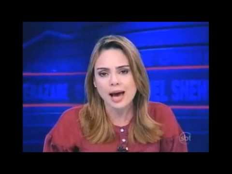 A CORAGEM DA APRESENTADORA DO JORNAL DO SBT