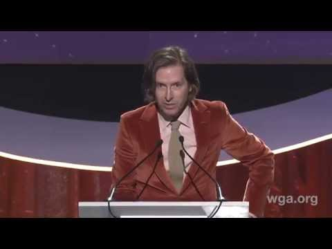 Wes Anderson wins the 2015 WGA Award for Original Screenplay for Grand Budapest Hotel