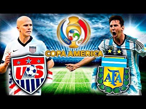 Estados Unidos vs Argentina - COPA AMÉRICA 2016 SEMIFINALES (FIFA 16) | Zoko