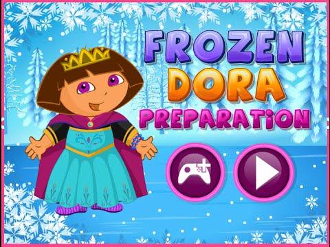 Dora The Explorer Online Games Dora The Explorer Makeover Frozen Preparation