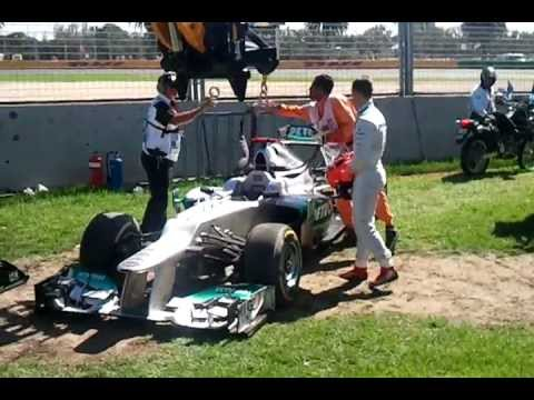 Michael Schumacher Crash-Practice 3 Melbourne 2012