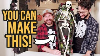 DIY Skeleton Coffin Front Door Halloween Decoration - HGTV Handmade