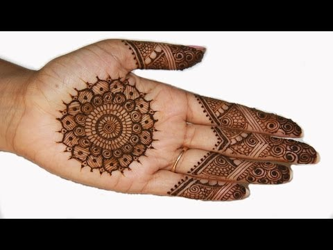 Traditional Indian Pakistani Mehndi Henna Design