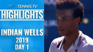 Auger Aliassime sets Tsitsipas clash; mixed American fortunes   Indian Wells 2019 Highlights Day 1