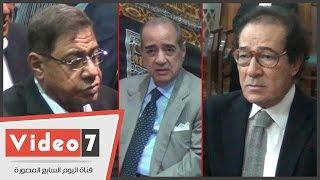 بالفيديو.. فريد الديب وفاروق حسنى وعبد المجيد محمود وياسر رزق فى عزاء