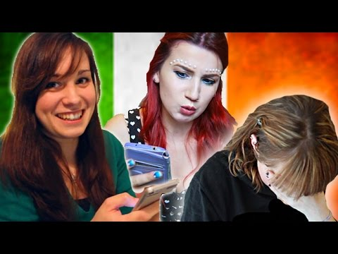 Australian and English girls try to pronounce Irish names