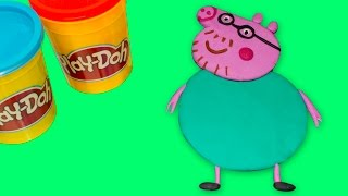 Peppa Pig Play Doh How to make Family Peppa Pig with Playdough Part4 / Свинка Пеппа