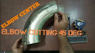 How to cut elbow in any Degree? elbow center urdu hindi