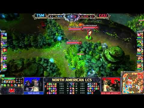 Team Solo Mid (TSM) vs Good Game University (GGU) - League of Legends LCS 2013 NA Spring W10D3