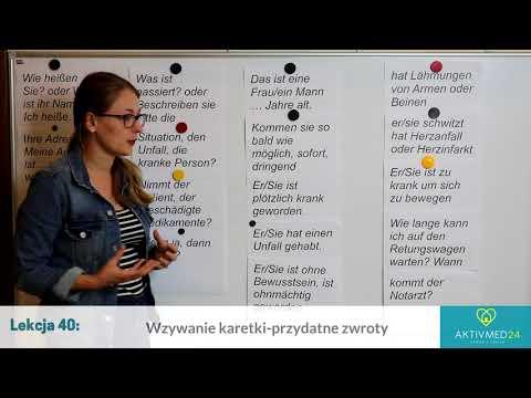 Niemiecki Dla Opiekunek Seniorów: Lekcja 40 - Wzywanie Karetki - Przydatne Zwroty