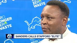 "Barry Sanders calls Matthew Stafford ""elite"""