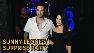 Sunny Leone GIVES SURPRISE Birthday Party to Hubby Denial Webher