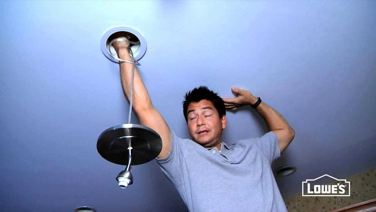 how to convert a recessed light to a pendant light youtube. Black Bedroom Furniture Sets. Home Design Ideas