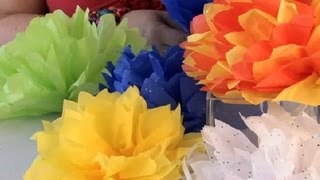 How to Fold & Cut a Paper Flower Ball : Festive Decorations