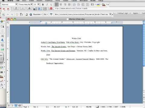how to mla format in word