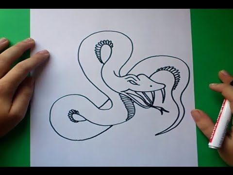 Como dibujar una serpiente paso a paso 6 How to draw a snake 6