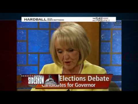 Old Witch Arizona Governor Jan Brewer Brain Freezes Hardball chris mathews