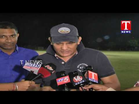 Azharuddin Attends Dr Cricket Tournament Final Match | Hyderabad | TNews live Telugu